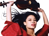 Virtuoso Vanessa-Mae at Westonbirt Arboretum in July 2009