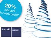 Early Bird Offer. 20% off your Christmas party with Barcelo Cheltenham Park Hotel