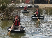 Coracle fun at WWT Slimbridge