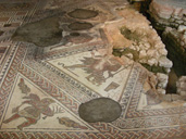 Conservators protect mosaics from builders at Chedworth Roman Villa