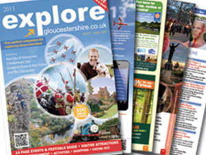 2013 Explore Gloucestershire printed guide NOW OUT