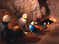 Caving at Clearwell Caves