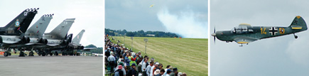 Spectators watch at Kemble Air Day